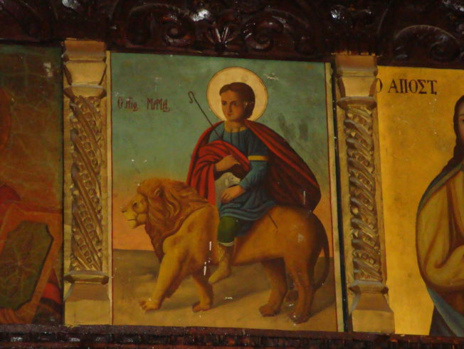 st_mamas_kyrka_tavla_helgon_norra_cypern