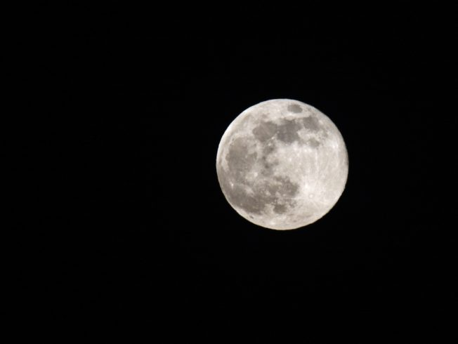 Beautiful super moon visible at the sky of North Cyprus