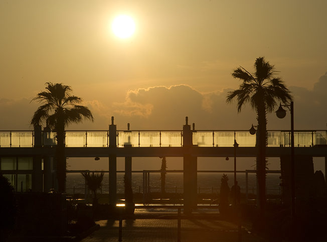 Sunset-Aphrodite-beachfront-north-cyprus