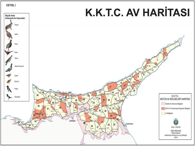 north-cyprus-map-of-hunting-regions