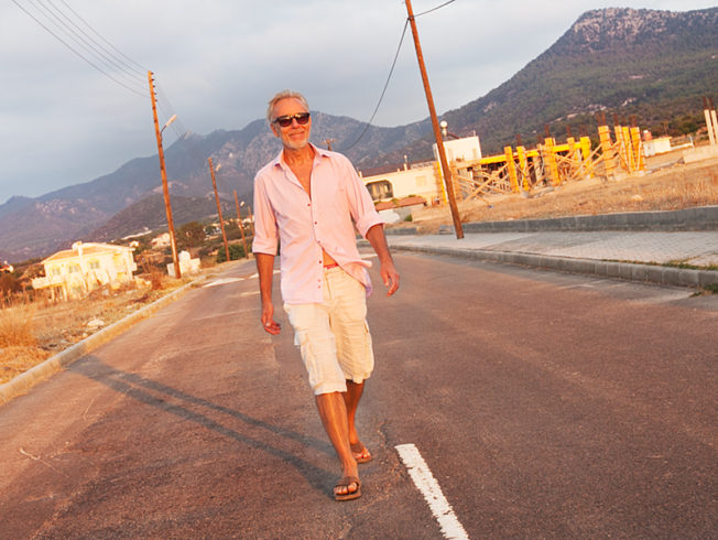 north-cyprus-walking-on-the-road