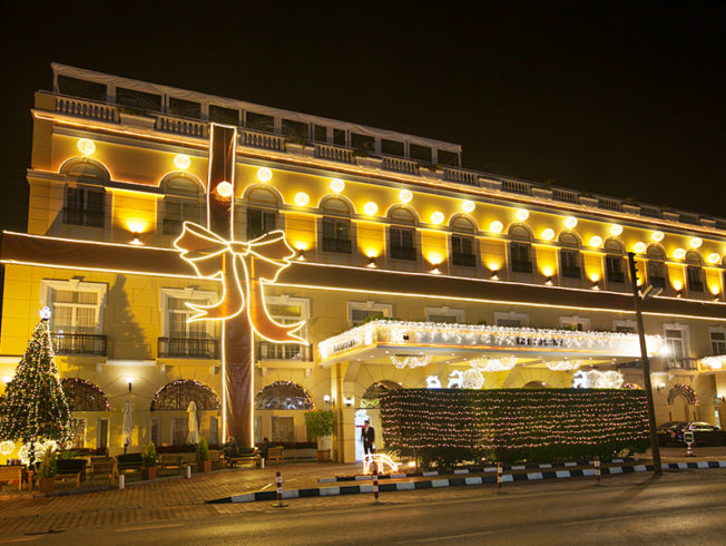 north-cyprus-hotel-with-christmas-decorations