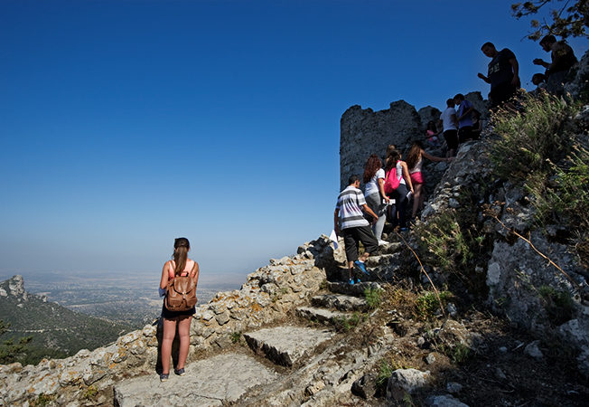 north-cyprus-kantara-castle-blue-skies-people