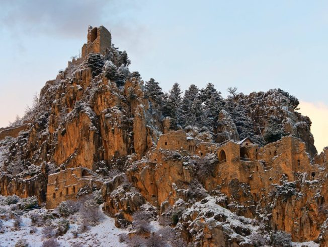 st-hilarion-snow-winter-north-cyprus