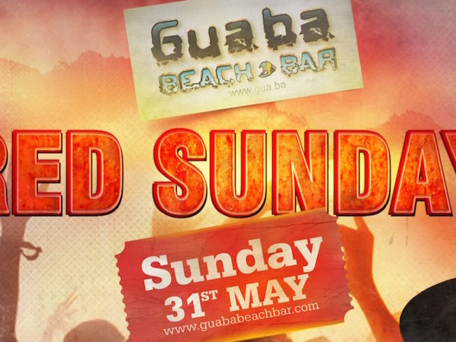 guaba-red-party-sunday-31-may-poster