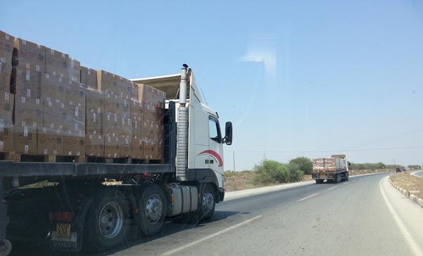 Turkish-Cypriot-EVKAF-administration-cars-with-boxes