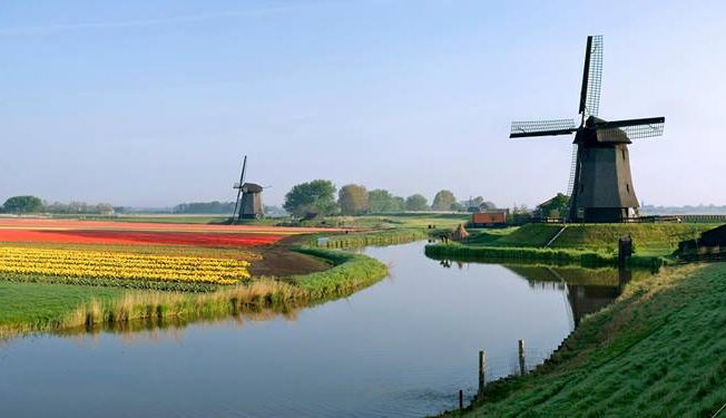 holland-netherlands-windmill-nature