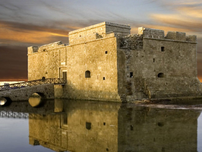 Picture of Paphos castle in Cyprus
