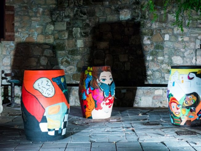 Wine-barrel-themed-art-exhibition-in-Paphos