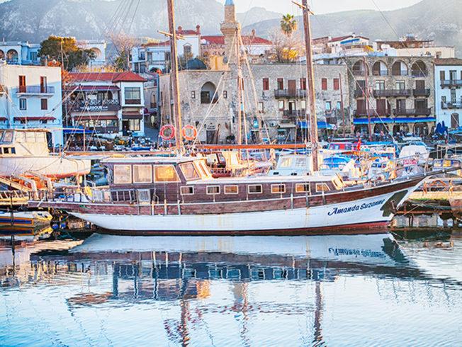Boat in Kyrenia harbour