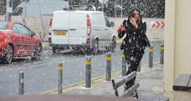 Snow in Nicosia