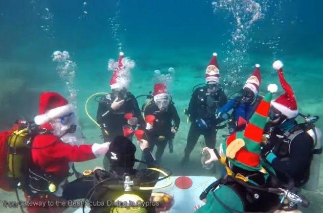underwater-Christmas-party-in-Larnaca