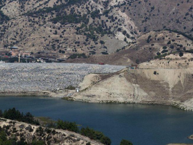 Water reservoir in North Cyprus