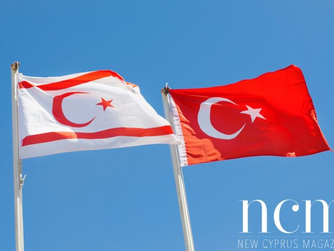 Turkish Cypriot and Turkish flags