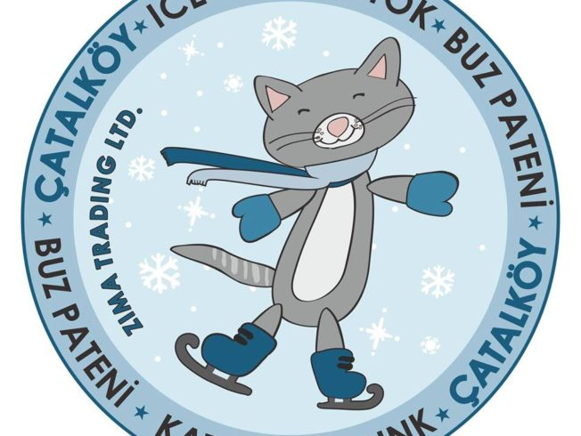 Cat ice skating