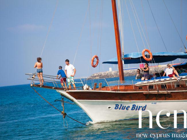 Blue Bird at sea