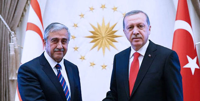President Mustafa Akinci and Erdogan