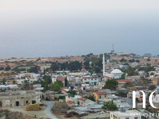View over village