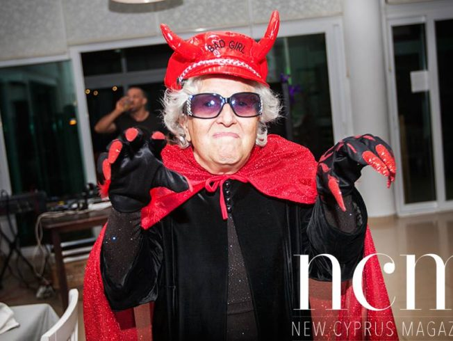 Lady dressed as a devil