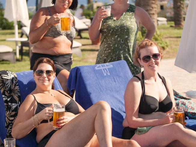 Women enjoying the sun