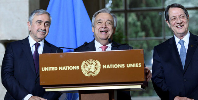 Leaders Nicos Anastasiades and Mustafa Akinci