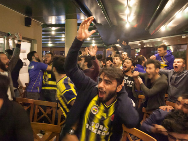 Cypriots love football at The Sicilian